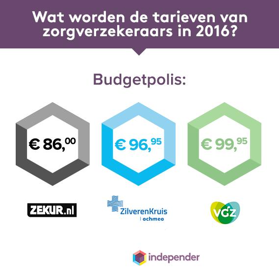 Budgetverzekeringen in 2016
